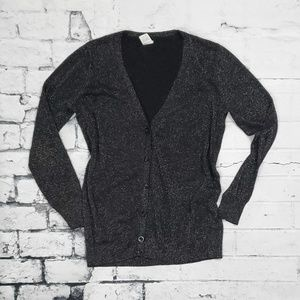 Sweaters - Gold and Black Glittered Cardigan